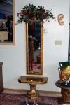 Hall table mirror